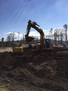 伐採、抜根、造成工事